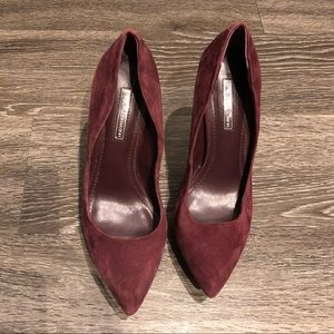 BCBGeneration Maroon Heels / Pumps Size 7.5
